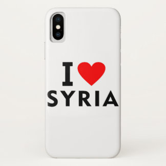I love Syria country like heart travel tourism iPhone X Case