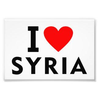 I love Syria country like heart travel tourism Photo Print