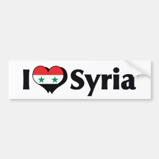 I Love Syria Flag Bumper Sticker