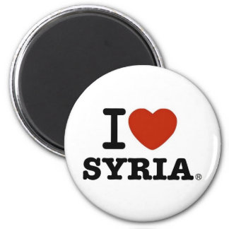 I Love Syria 6 Cm Round Magnet