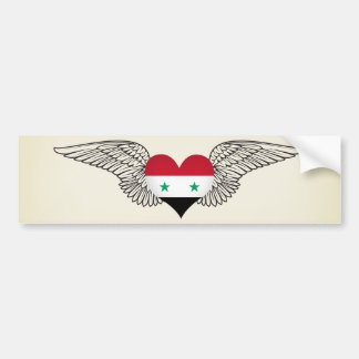 I Love Syria -wings Bumper Sticker