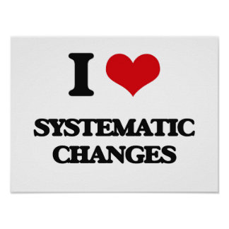 I love Systematic Changes Poster