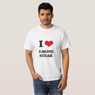 I Love T-Bone Steak T-Shirt