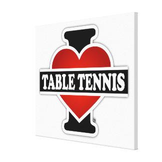 I Love Table Tennis Canvas Print