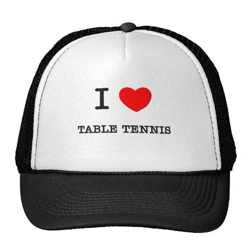I Love Table Tennis Mesh Hats