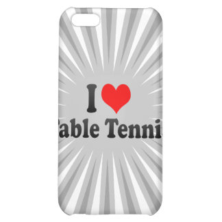 I love Table Tennis Case For iPhone 5C