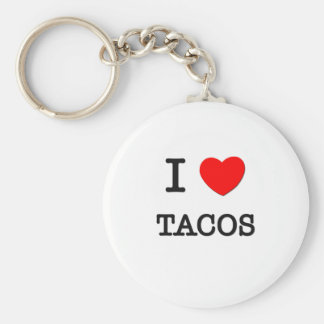 I Love Tacos Basic Round Button Key Ring