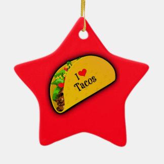 I Love Tacos Ceramic Ornament