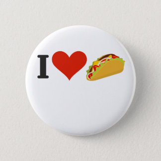 I Love Tacos For Taco Lovers 6 Cm Round Badge