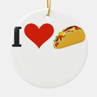 I Love Tacos For Taco Lovers Ceramic Ornament