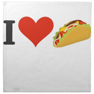 I Love Tacos For Taco Lovers Napkin
