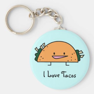 I Love Tacos Key Chain