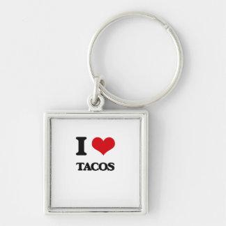 I Love Tacos Key Chains
