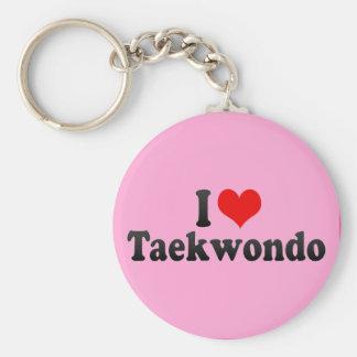 I Love Taekwondo Key Ring