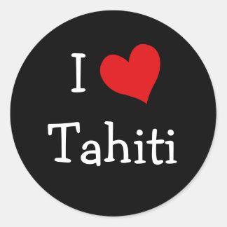 I Love Tahiti Classic Round Sticker