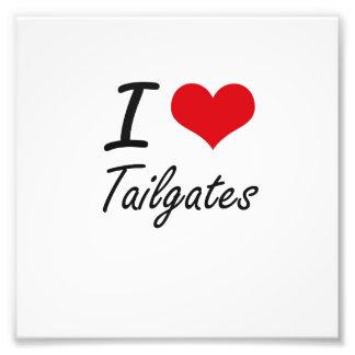 I love Tailgates Photographic Print