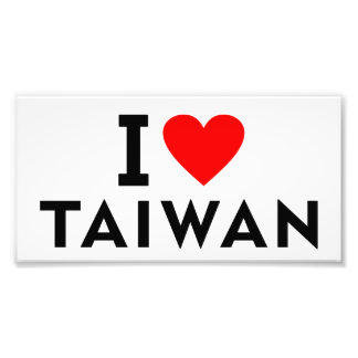 I love Taiwan country like heart travel tourism Photo Print