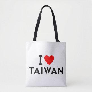 I love Taiwan country like heart travel tourism Tote Bag