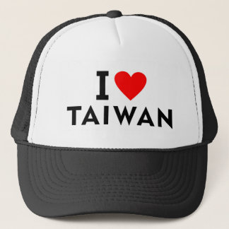 I love Taiwan country like heart travel tourism Trucker Hat