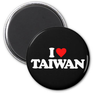 I LOVE TAIWAN 6 CM ROUND MAGNET