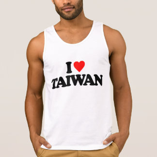 I LOVE TAIWAN TANKTOPS