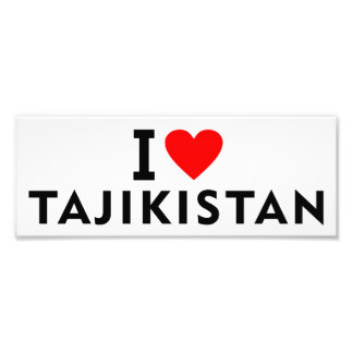 I love Tajikistan country like heart travel touris Photo Print