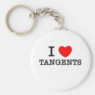 I Love Tangents Basic Round Button Key Ring