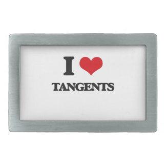 I love Tangents Rectangular Belt Buckles