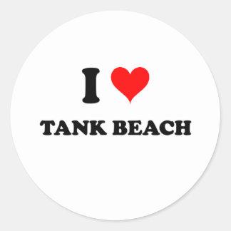 I Love Tank Beach Northern Mariana Islands Round Stickers