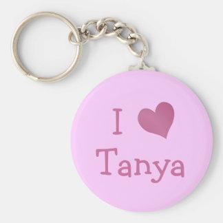 I Love Tanya Key Ring