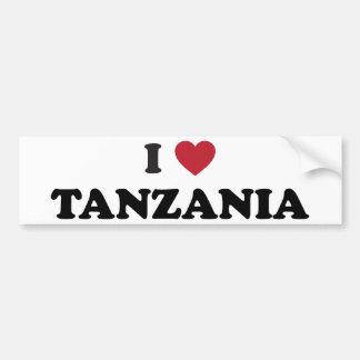 I Love Tanzania Bumper Sticker