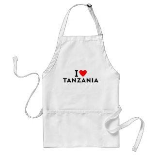 I love Tanzania country like heart travel tourism Standard Apron
