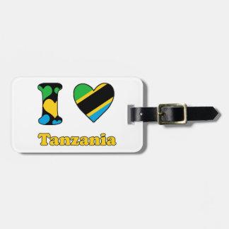 I love Tanzania Luggage Tag