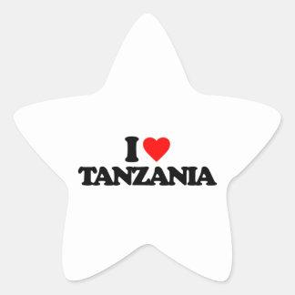 I LOVE TANZANIA STAR STICKER