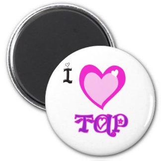 I LOVE Tap 6 Cm Round Magnet