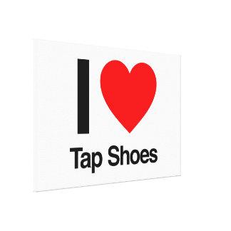 i love tap shoes canvas prints