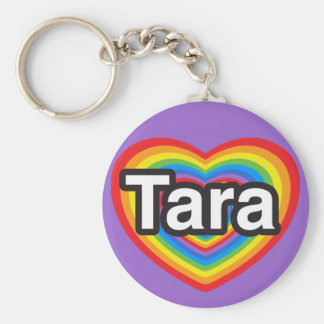 I love Tara I love you Tara Heart Keychain