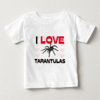 I Love Tarantulas Baby T-Shirt
