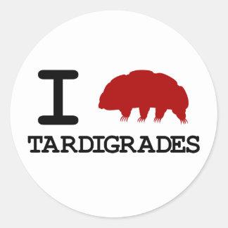 I Love Tardigrades Classic Round Sticker