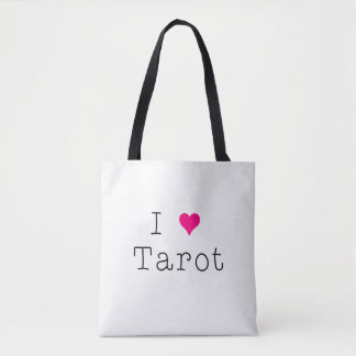 I Love Tarot Tote White All-Over-Print Tote Bag