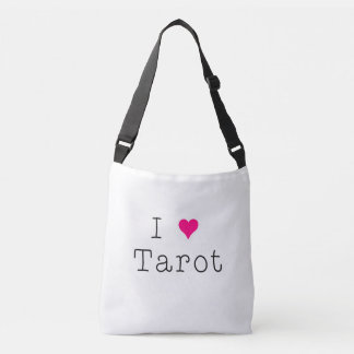 I Love Tarot White Cross Body Bag