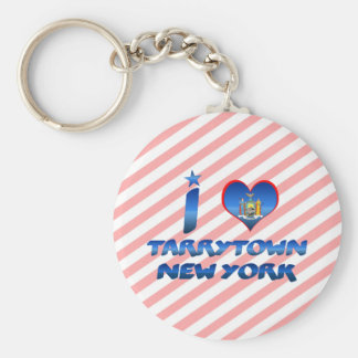 I love Tarrytown, New York Basic Round Button Key Ring