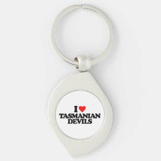 I LOVE TASMANIAN DEVILS KEYCHAIN