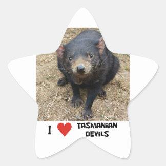 I love Tasmanian devils Star Sticker