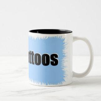 i love tattoos framed mugs