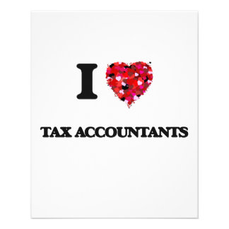 I love Tax Accountants 11.5 Cm X 14 Cm Flyer