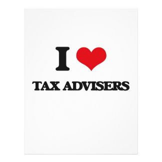 I love Tax Advisers 21.5 Cm X 28 Cm Flyer