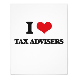 I love Tax Advisers Personalized Flyer