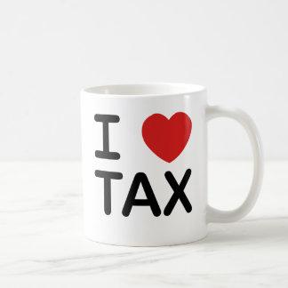 I Love Tax Basic White Mug