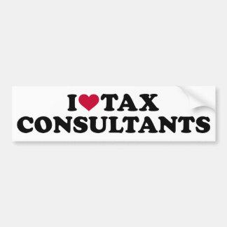 I love tax consultants bumper sticker
